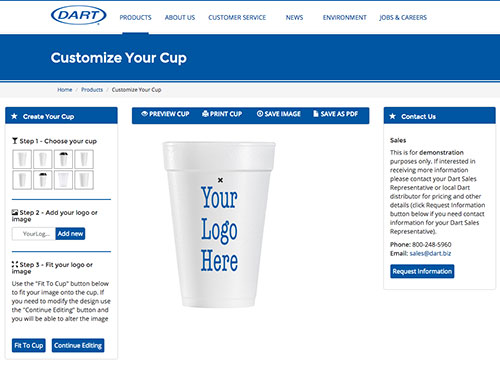 New Customize Your Cup feature